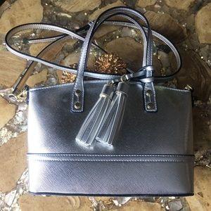 Merona Silver Bag w/Detachable Crossbody Strap